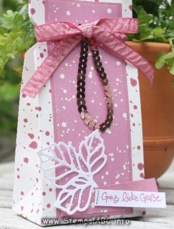 Verpackung mit dem Stanz- und Falzbrett für Geschenkschachteln