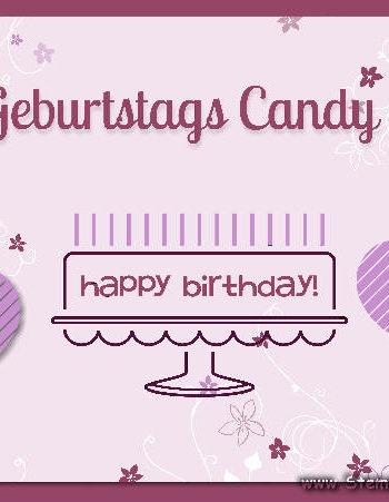 Geburtstags Candy Mein Geburtstag