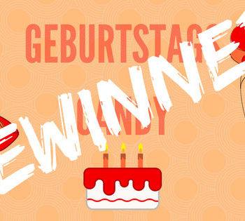 Geburtstagskarte Candy Gewinner
