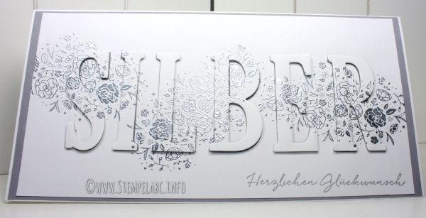Karte Zur Silberhochzeit Mit Großen Buchstaben Stempel Abc