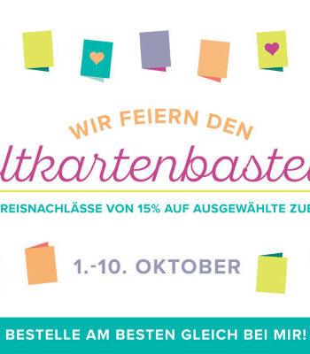 Weltkartenbasteltag mit tollen Geschenke im Oktober