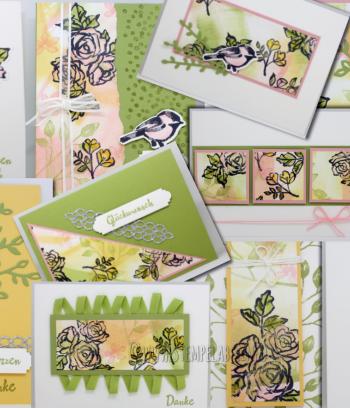 10 Karten mit dem Set Blütentraum
