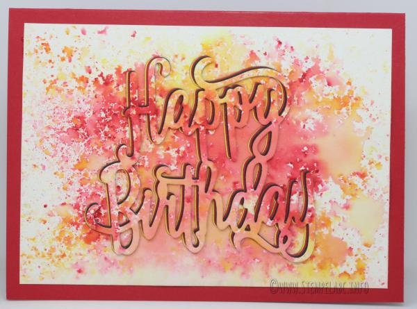 Happy Birthday mit Brusho