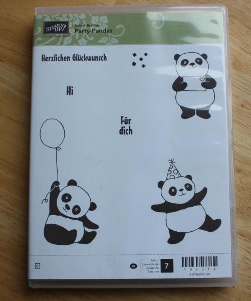 Flohmarkt Stempel Gummi Party-Pandas
