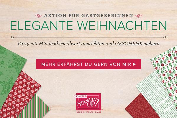 Elegante Weihnachten Designerpapier Aktion im September