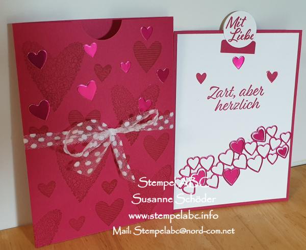 Valentinstag Karte vom Workshop im Februar