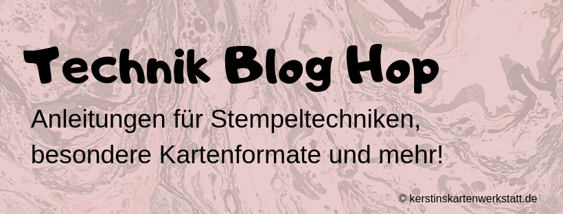 11. Technik Blog Hop Peak A Boo Karte