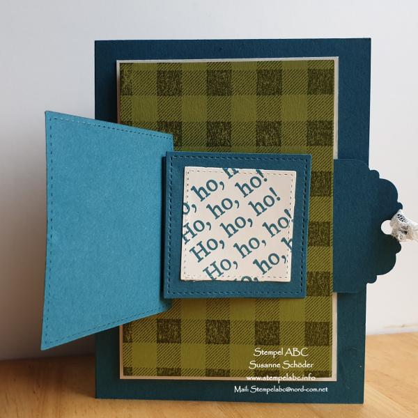 Weihnachten im Juli >Pull Tab Flap Card< mit Anleitung