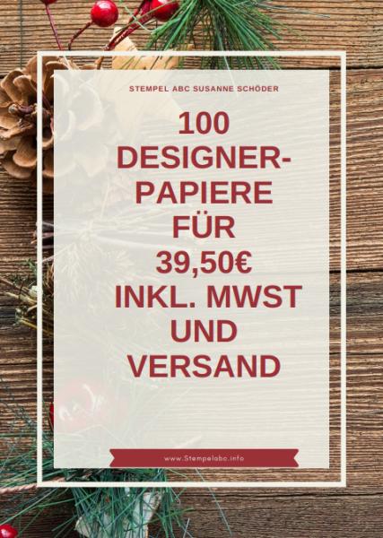 Designerpapier Musterpaket 100 Blätter