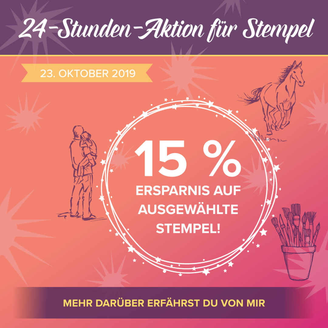 24-Stunden-Aktion für Stempel Sammelbestellung am 23.10.201
