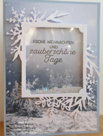 Schüttelkarte mit der Produktreihe Winterzweige