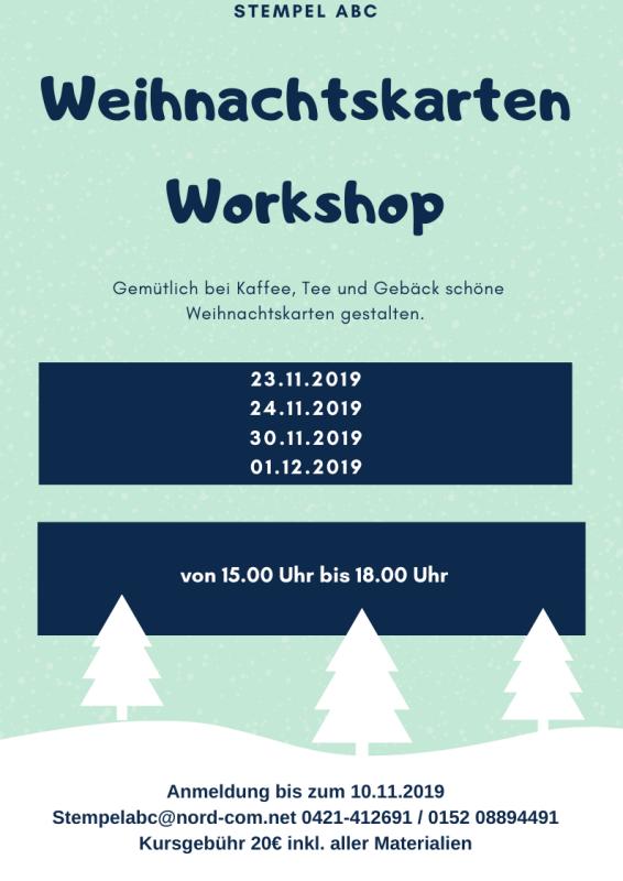 Weihnachtskarten Workshop