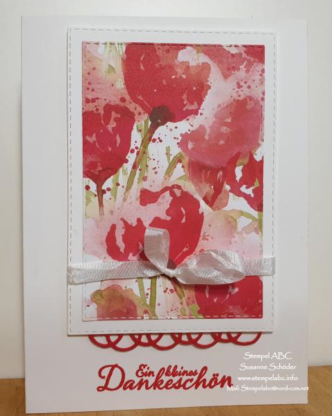 Stamp Sisters-Paintet Poppies-Rahmenkarte