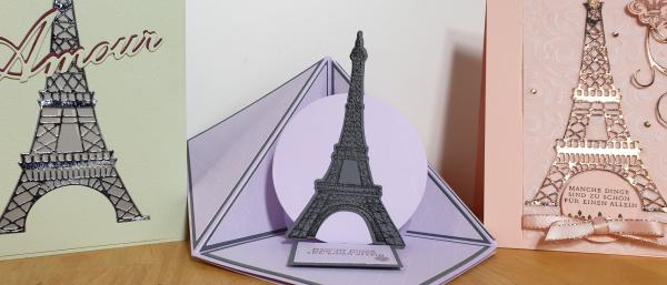 Stamp Sisters - Frühling in Paris - Peek a Boo Fold Karte